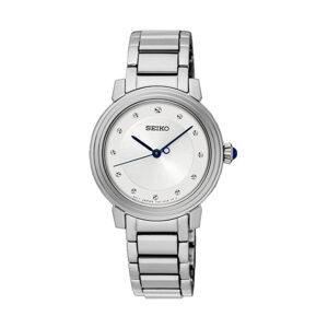 Reloj Seiko Classic Mujer SRZ479P1 Acero esfera blanca con brillantes como indicadores