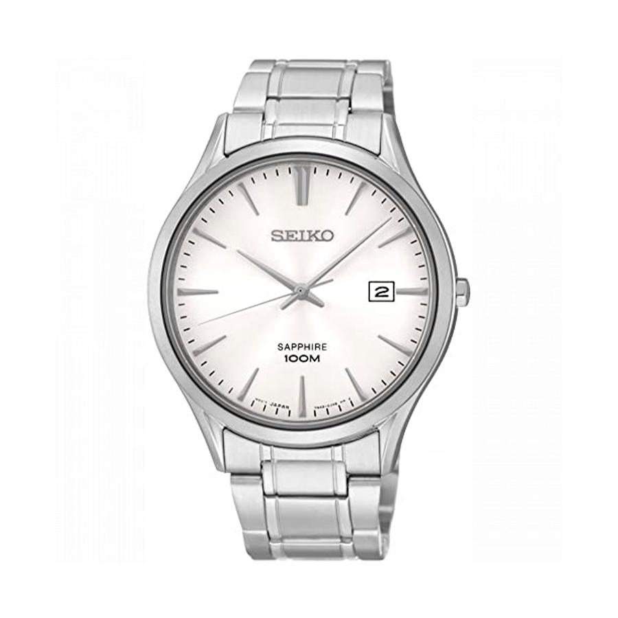 Reloj Seiko Neo Classic Hombre SGEG93P1 Acero esfera blanca con calendario