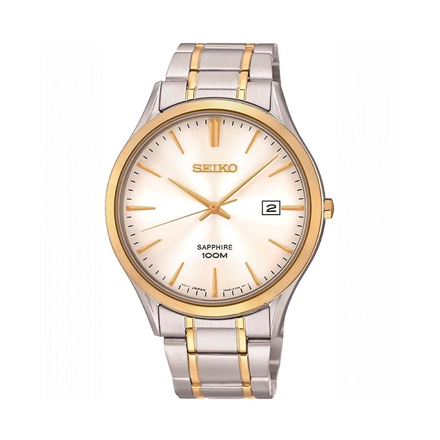 Reloj Seiko Neo Classic Hombre SGEG96P1 Acero esfera blanca con calendario