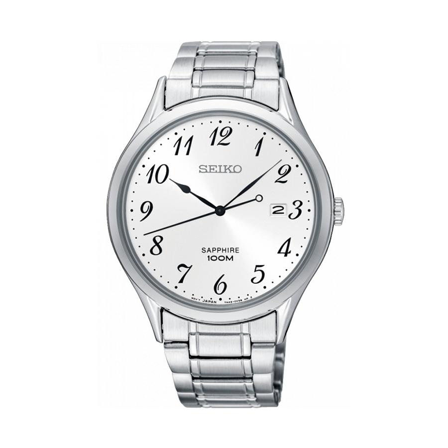 Reloj Seiko Neo Classic Hombre SGEH73P1 Acero esfera blanca con calendario