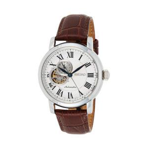 Reloj Seiko Neo Classic Hombre SSA231K1 Acero con esfera skeleton blanca con indicador de carga