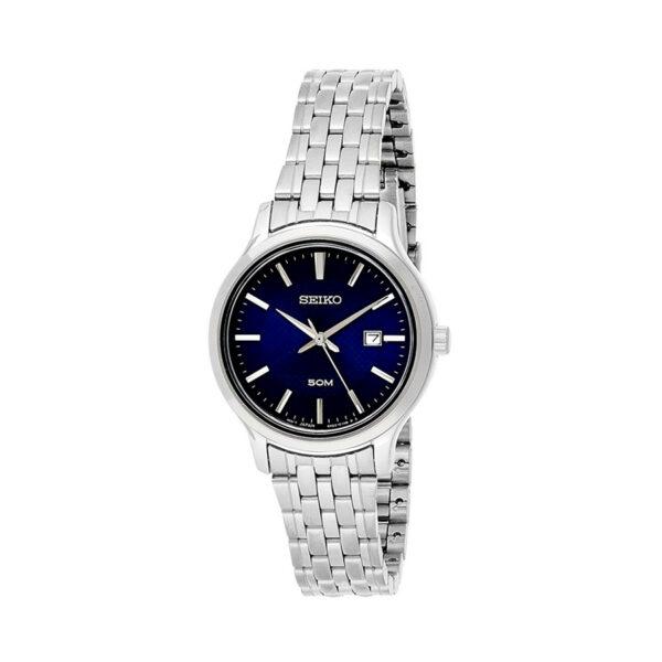 Reloj Seiko Neo Classic Mujer SUR651P1 Acero esfera azul con calendario y correa piel azul