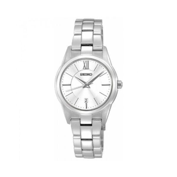 Reloj Seiko Neo Classic Mujer SXDC77P1 Acero esfera blanca con calendario