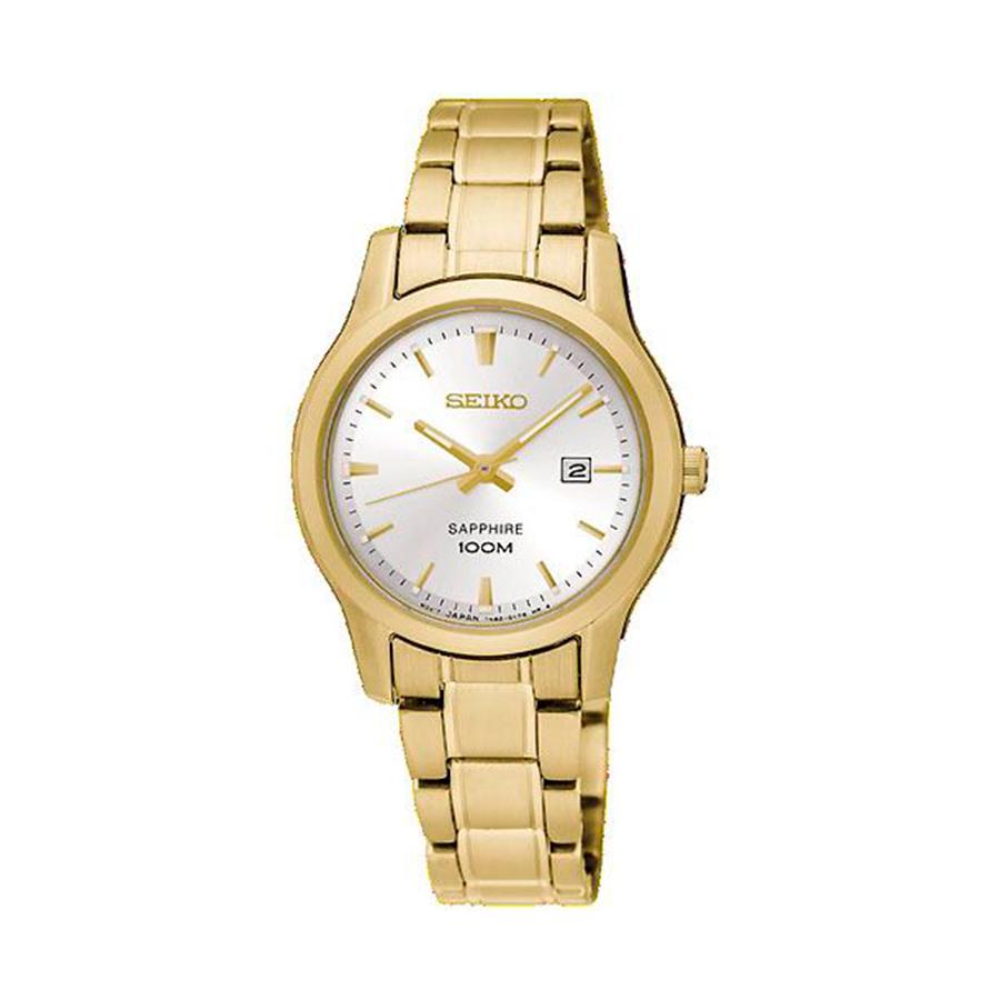 Reloj Seiko Neo Classic Mujer SXDG92P1 Acero dorado con esfera blanca y calendario