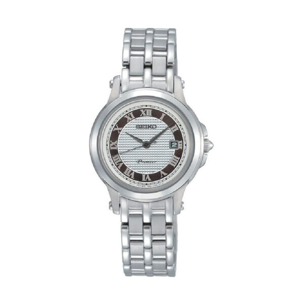 Reloj Seiko Premier Mujer SXDE41P1 Acero trasera skeleton con calendario
