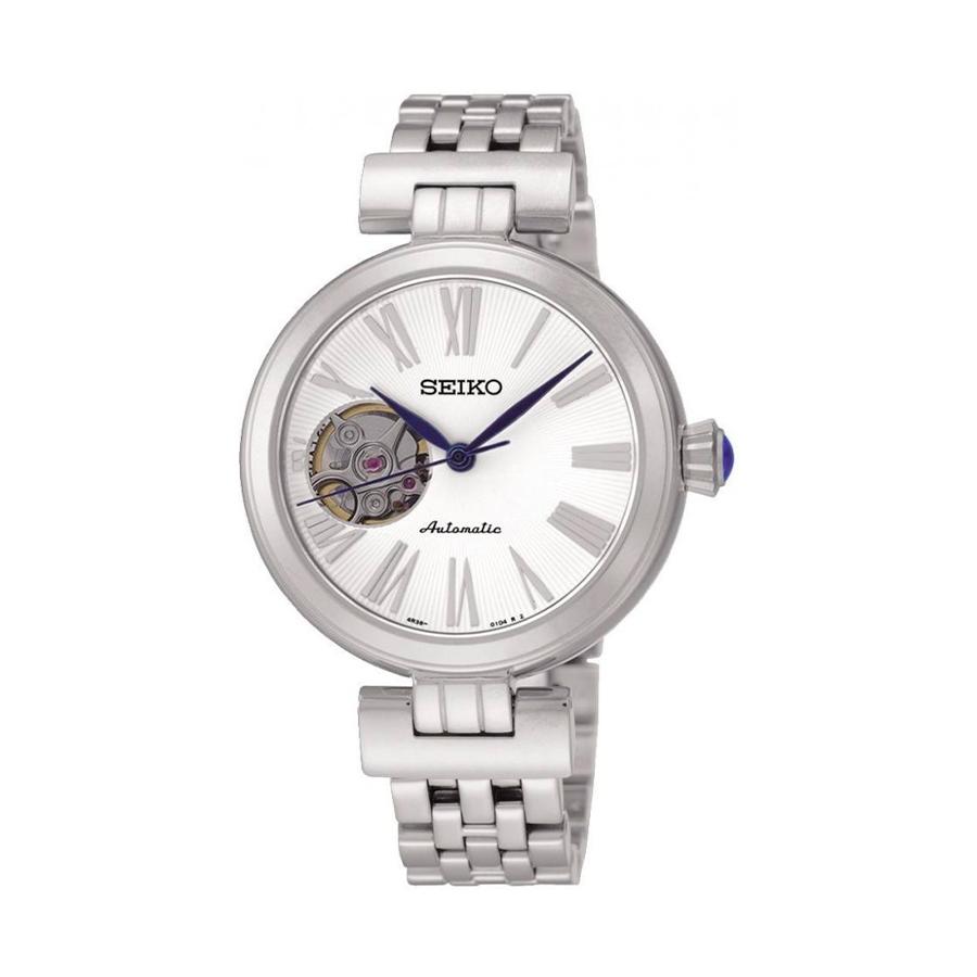Reloj Seiko Presage Mujer SSA863K1 Acero con esfera blanca skeleton