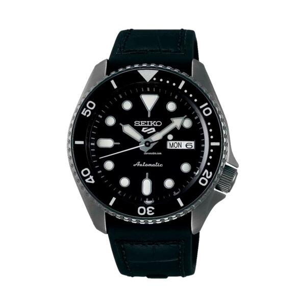 Reloj Seiko Sports Hombre SRPD55K2 Acero esfera negra con calendario y correa nylon negra