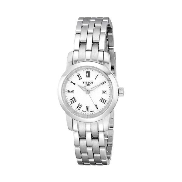 Reloj Tissot Classic Dream Mujer T0332101101300 Acero esfera blanca y correa de acero