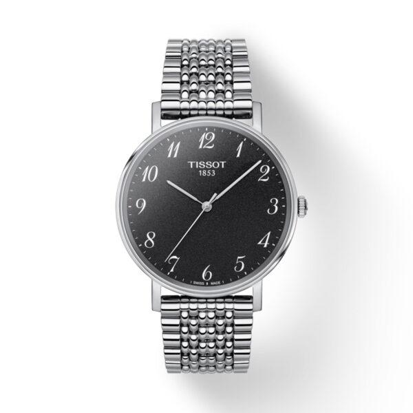 Reloj Tissot Everytime Hombre T1094101107200 Acero esfera negra y correa de acero