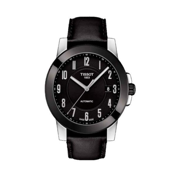 Reloj Tissot Gentleman Hombre T0984072605200 Swissmatic negro y correa de piel negra