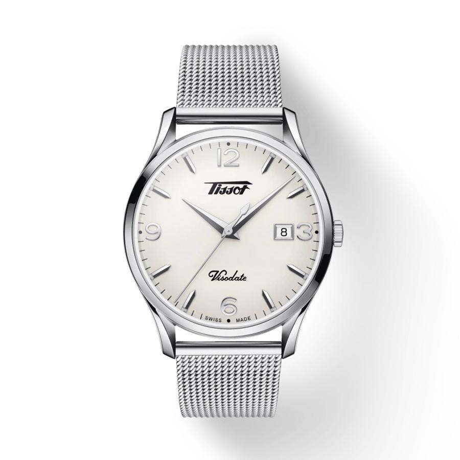 Reloj Tissot Heritage Hombre T1184101127700 Acero esfera blanca y correa de malla acero