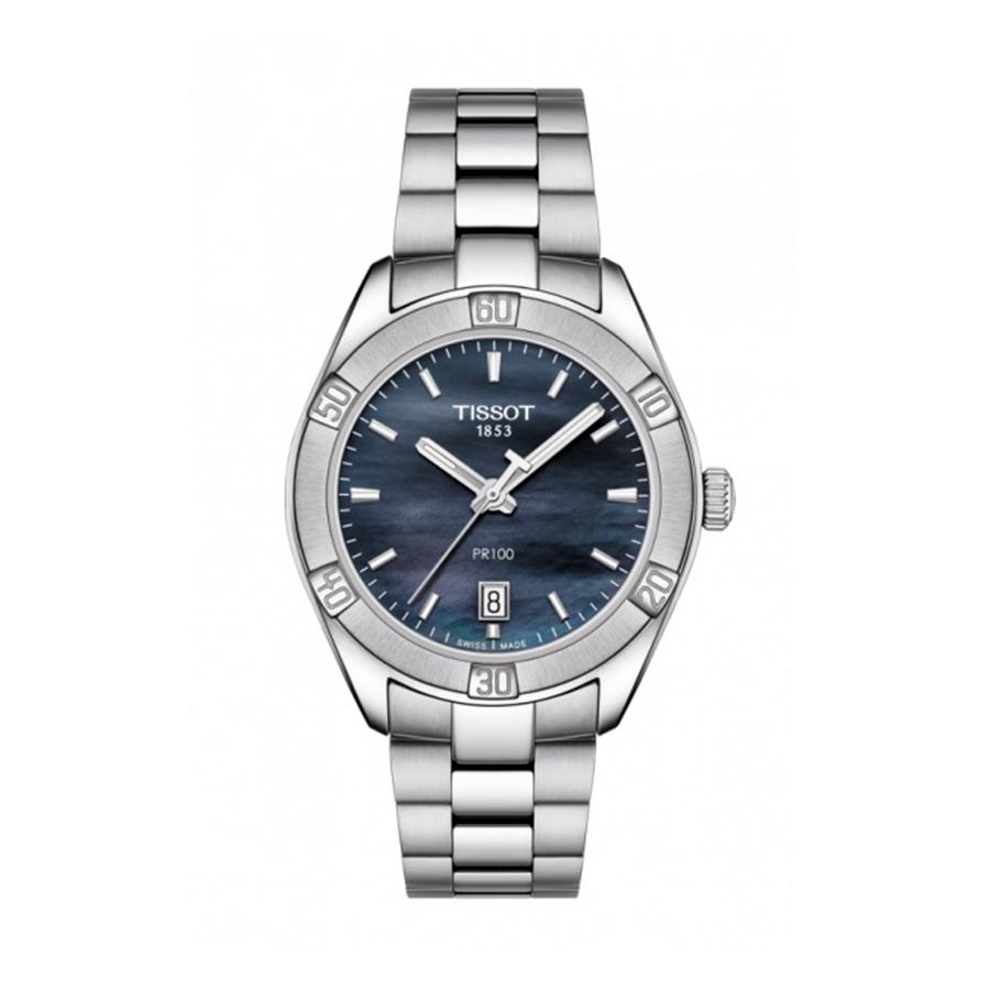 Reloj Tissot PR 100 Mujer T1019101112100 Acero esfera azul nacarada y correa de acero
