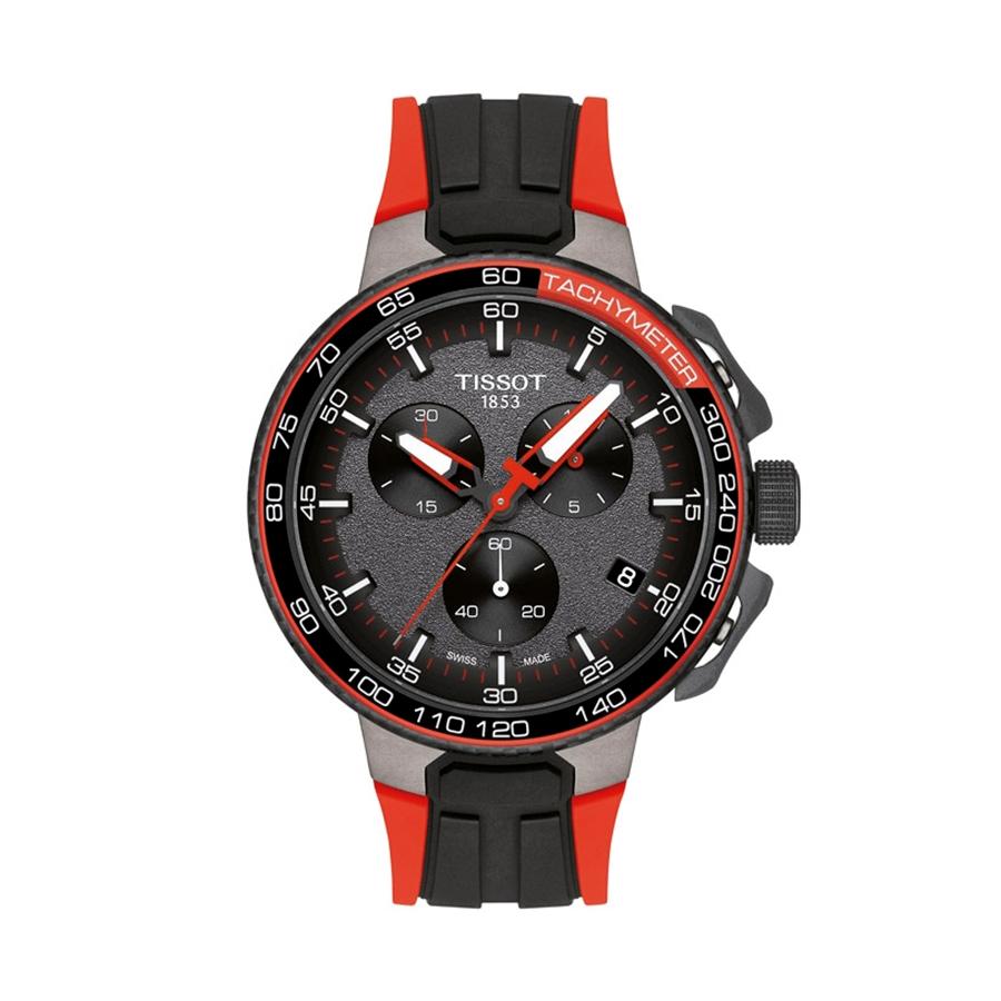 Reloj Tissot T-Race Hombre T1114173744101 La Vuelta Crono motivos rojos y correa silicona