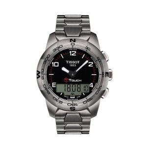 Reloj Tissot T-touch II Hombre T0474204405700 T-Touch II esfera negra y titanio
