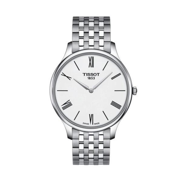 Reloj Tissot Tradition Hombre T0634091101800 Acero esfera blanca y correa de acero