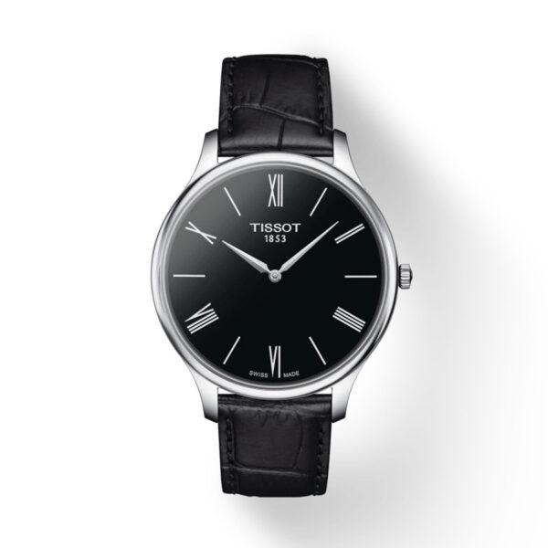 Reloj Tissot Tradition Hombre T0634091605800 Acero esfera negra y correa de piel negra
