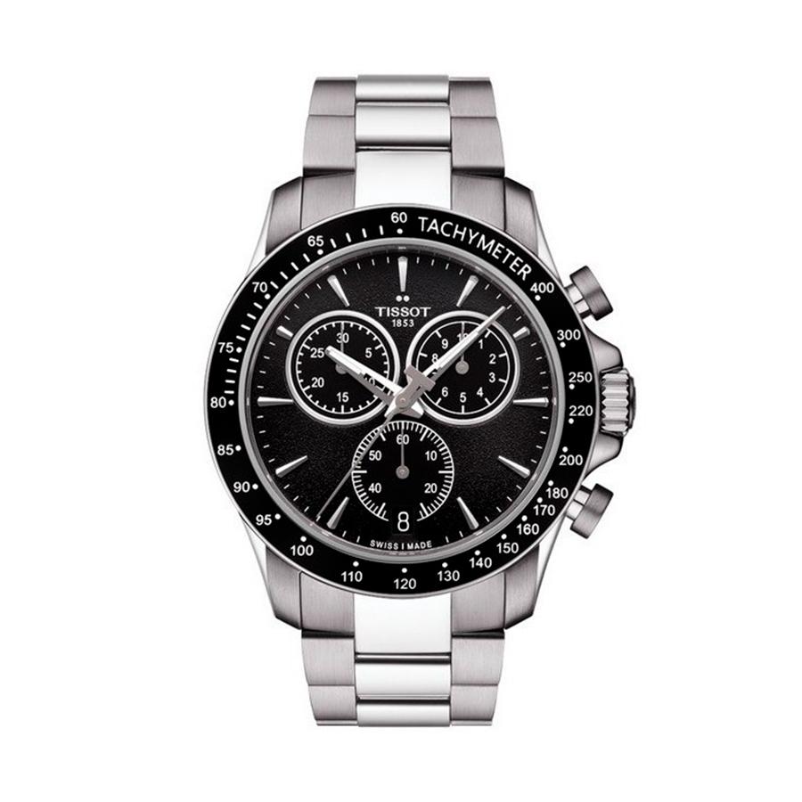 Reloj Tissot V8 Hombre T039417 Acero negro correa de acero