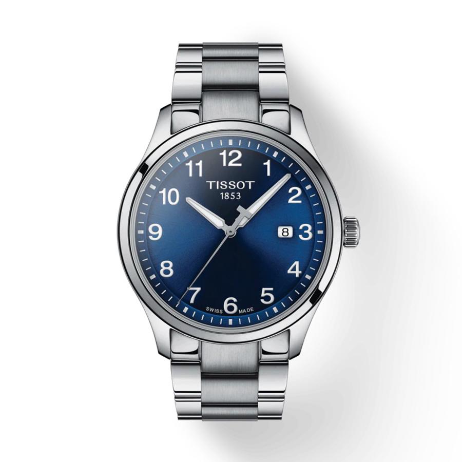 Reloj Tissot XL Hombre T1164101104700 Calendario esfera azul y correa de acero