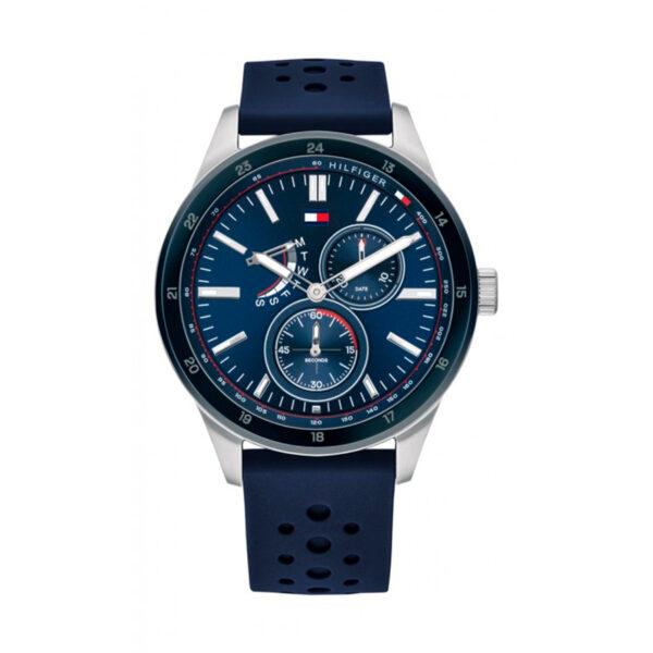 Reloj Tommy Hilfiger Austin Hombre 1791635 Multifunción correa de silicona azul