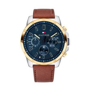 Reloj Tommy Hilfiger Decker Hombre 1791561 Multifunción de piel marrón