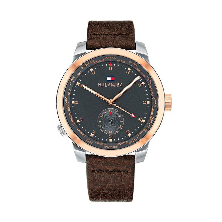 Reloj Tommy Hilfiger Denim Hombre 1791554 Correa piel marrón