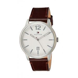 Reloj Tommy Hilfiger Essential Hombre 1791495 Esfera blanca correa piel marrón