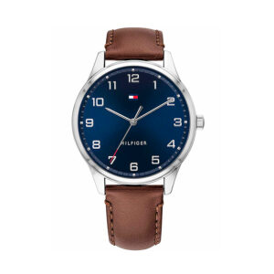Reloj Tommy Hilfiger Essential Hombre 1791659 Esfera azul correa piel marrón