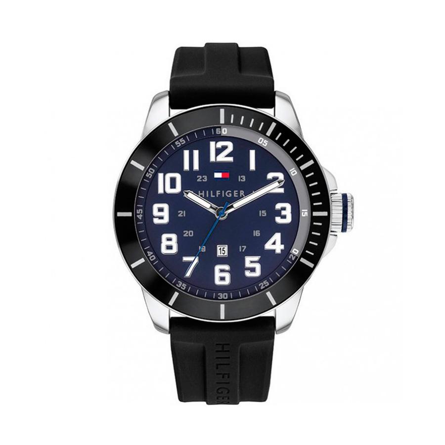 Reloj Tommy Hilfiger Essential Hombre 1791661 Correa silicona negra