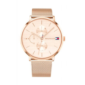 Reloj Tommy Hilfiger Jenna Mujer 1781944 Correa de malla rosada