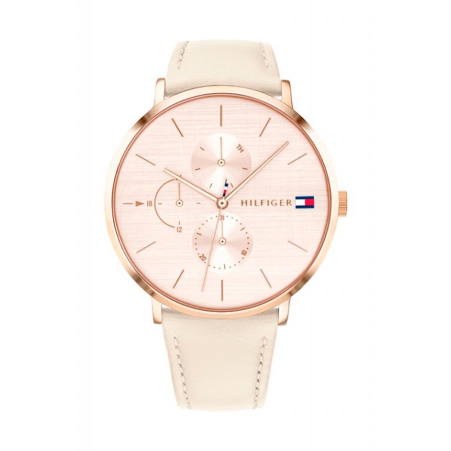 Reloj Tommy Hilfiger Jenna Mujer 1781948 Multifunción esfera rosada