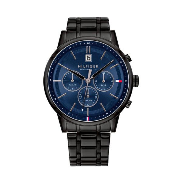 Reloj Tommy Hilfiger Kyle Hombre 1791633 Esfera azul marino correa negra