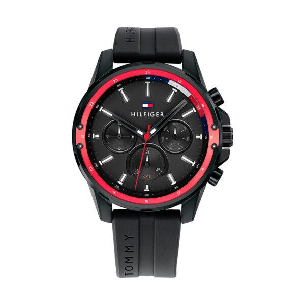 Reloj Tommy Hilfiger Mason Hombre 1791793 Correa de silicona negra