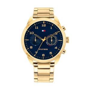 Reloj Tommy Hilfiger Patrick Hombre 1791783 Dorado esfera azul