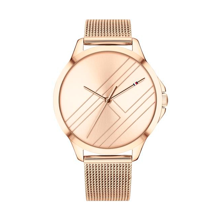 Reloj Tommy Hilfiger Peyton Mujer 1781963 Correa malla rosada