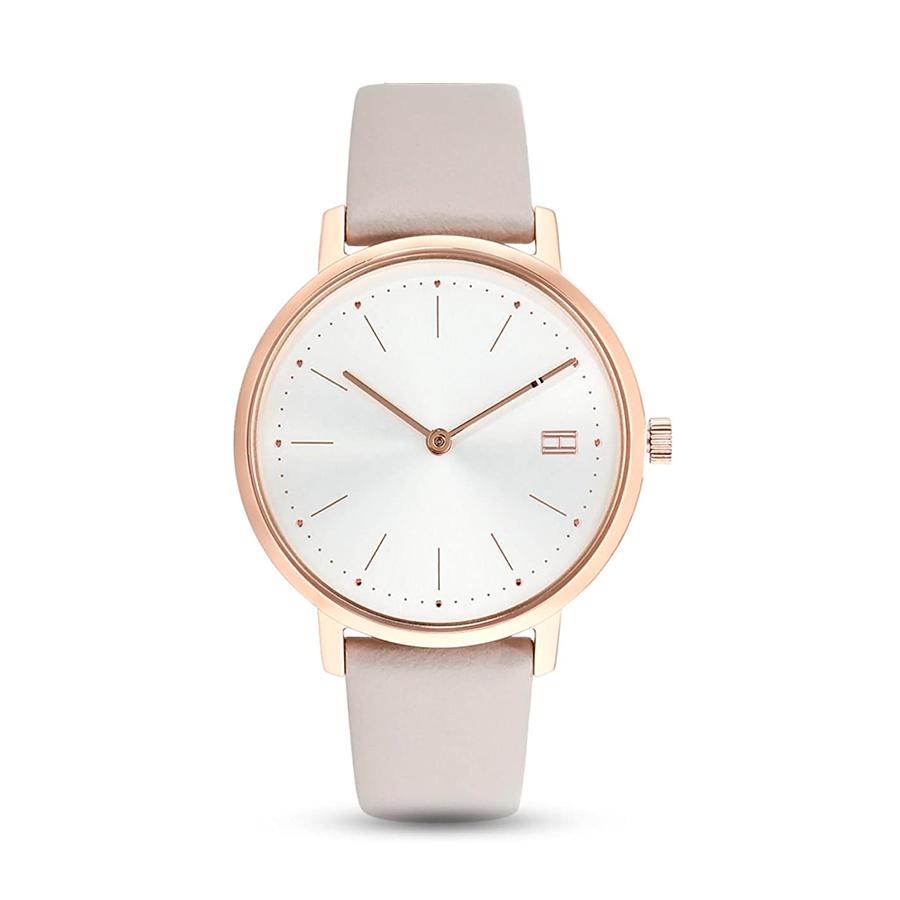 Reloj Tommy Hilfiger Pippa Mujer 1781923 Correa de piel esfera gris y rosa