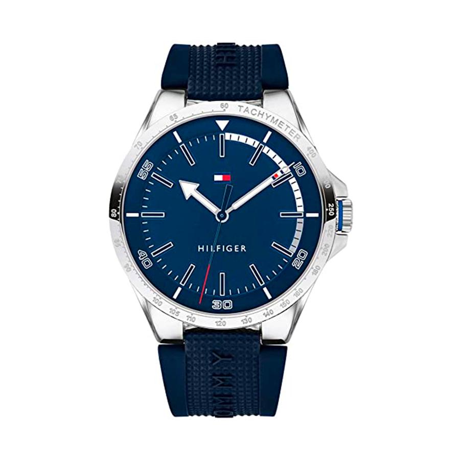Reloj Tommy Hilfiger Riverside Hombre 1791542 Acero correa de silicona azul