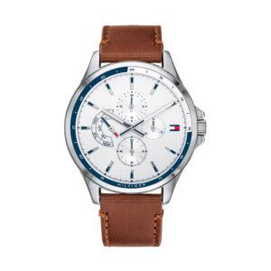 Reloj Tommy Hilfiger Shawn Hombre 1791614 Multifunción correa de piel marrón