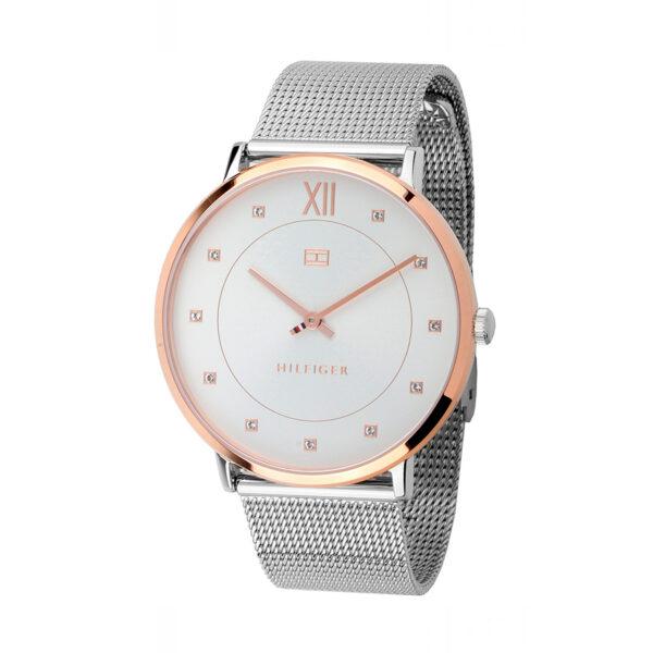 Reloj Tommy Hilfiger Sloan Mujer 1781811 Correa malla plateada