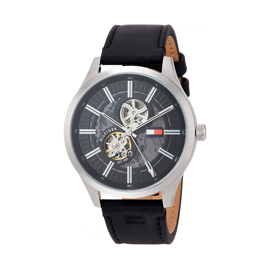 Reloj Tommy Hilfiger Spencer Hombre 1791641 Automático correa piel negra