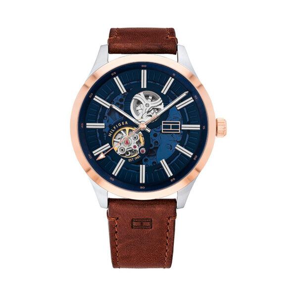 Reloj Tommy Hilfiger Spencer Hombre 1791642 Automático correa piel marrón