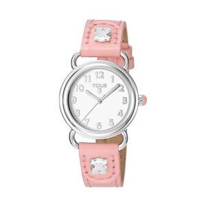 Reloj Tous Baby Beard Mujer 500350180 Acero correa piel rosa