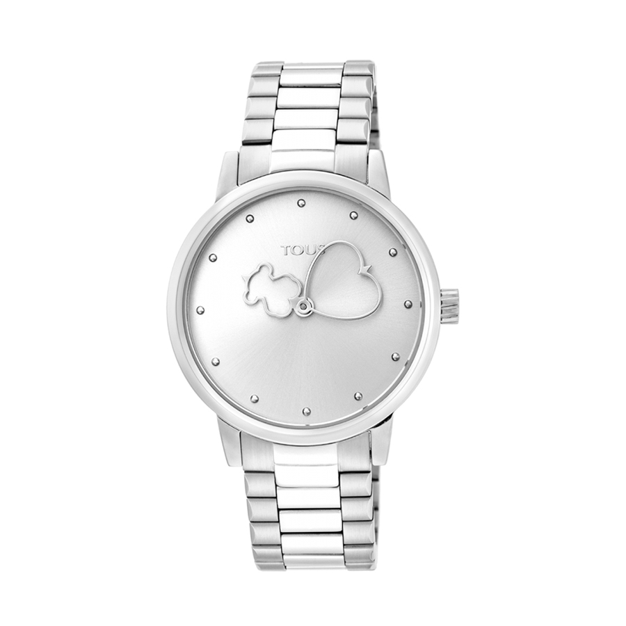 Reloj Tous Bear Time Mujer 900350305 Acero con motivos en las saetas oso