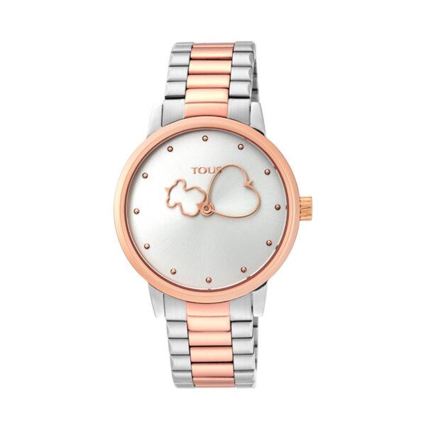 Reloj Tous Bear Time Mujer 900350315 Bicolor rosado