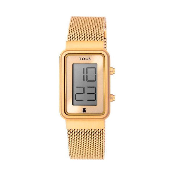 Reloj Tous Digisquared Mujer 000351525 Dorado rectangular digital