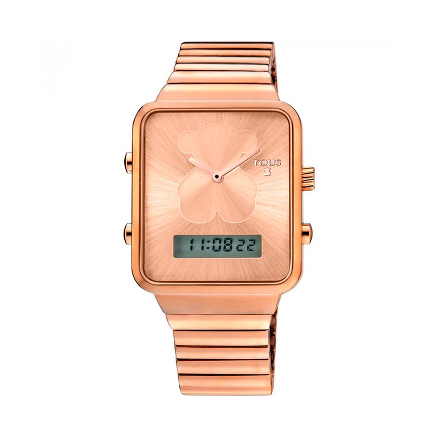 Reloj Tous I-Bear Mujer 700350130 Rosado cuadrado analógico-digital