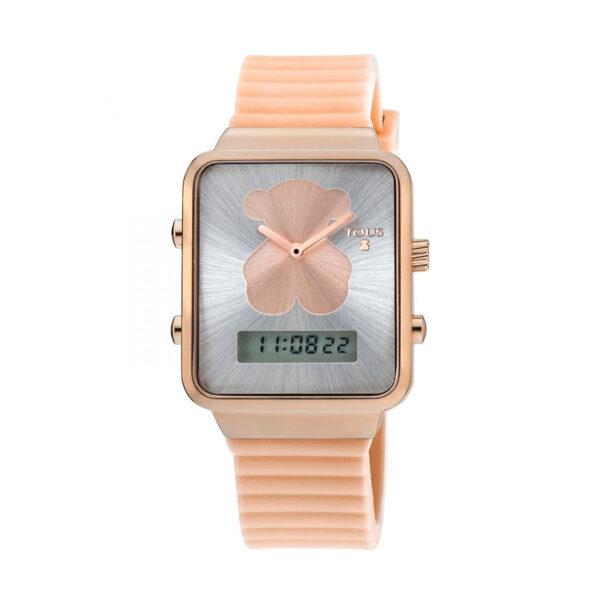 Reloj Tous I-Bear Mujer 700350140 Acero correa nude silicona digital
