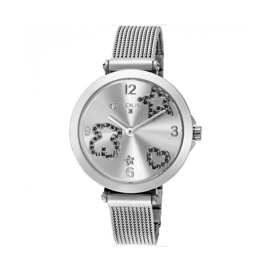 Reloj Tous Icon Mesh Mujer 600350380 Acero con motivos piedra negra correa malla