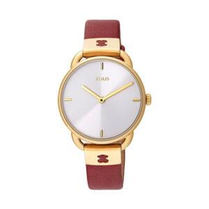 Reloj Tous Let Leather Mujer 000351470 Dorado con correa de piel roja