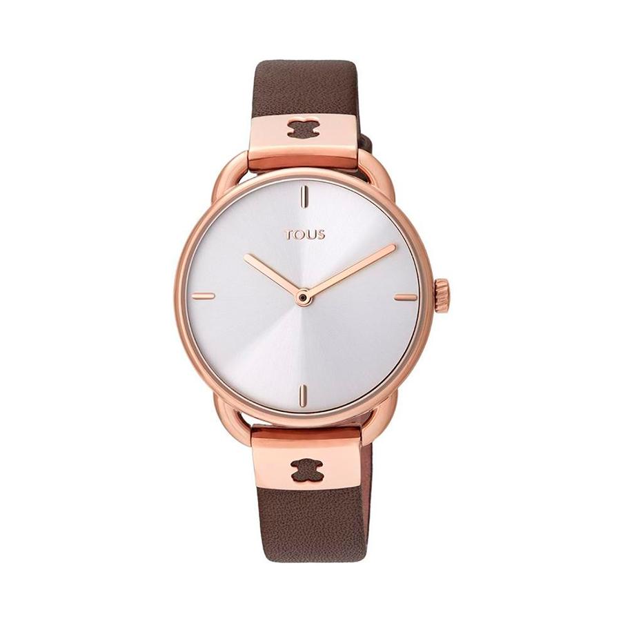 Reloj Tous Let Leather Mujer 000351475 Rosado correa de piel marrón