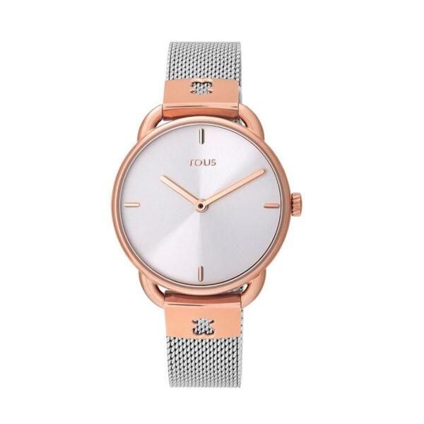 Reloj Tous Let Mesh Mujer 000351490 Acero bicolor rosado correa malla